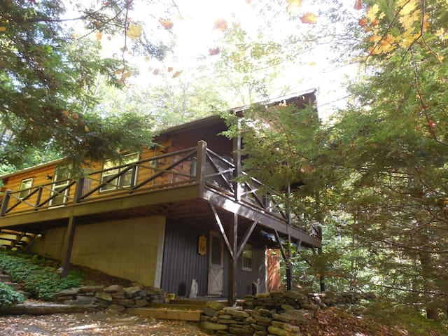 Lake View Cabin in the Berkshires - Tolland - Stuga