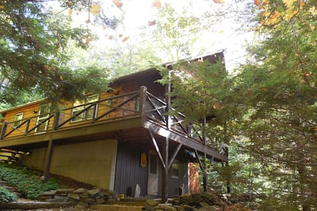 Lake View Cabin in the Berkshires - Tolland - Blockhütte