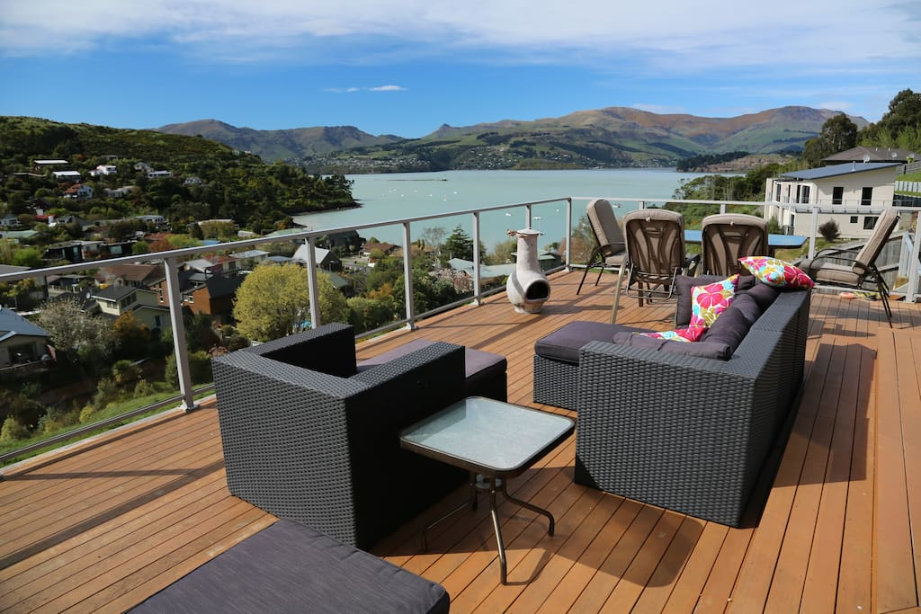 One of our decks with plenty of space here.