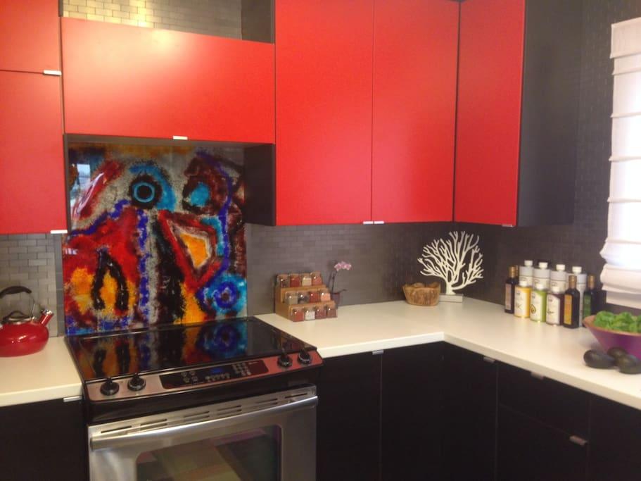 Newly renovated, modern kitchen