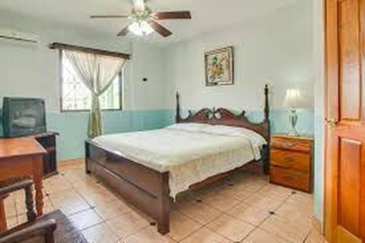 King bedroom in the center of San Ignacio