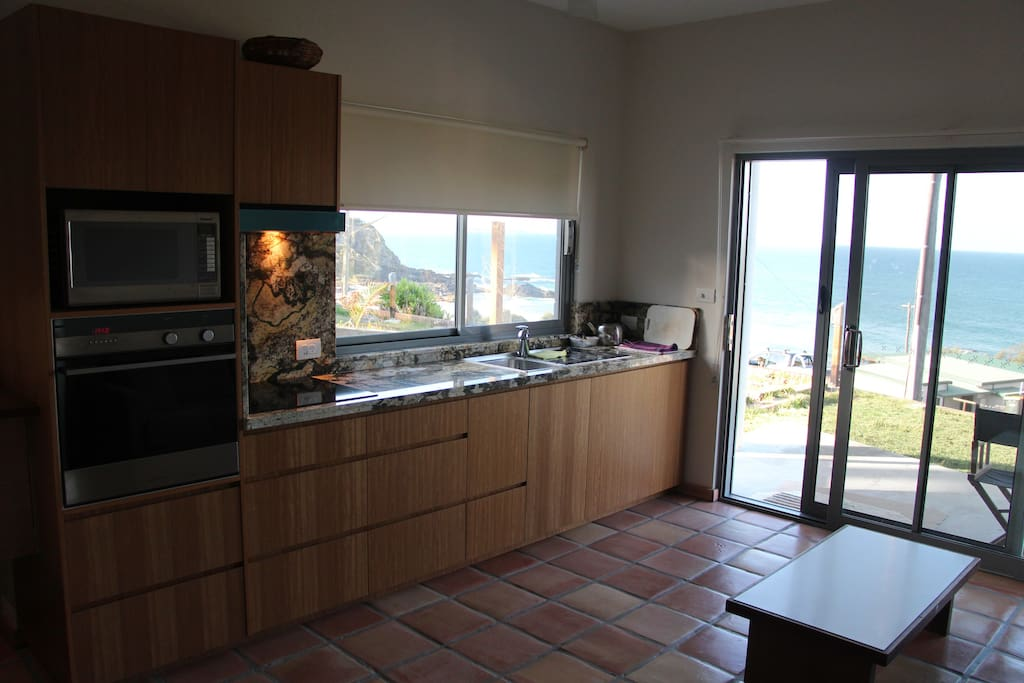 Full kitchen with amazing views!