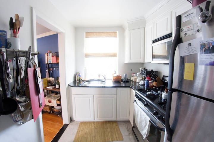 Small but efficient Kitchen- full size fridge and stove