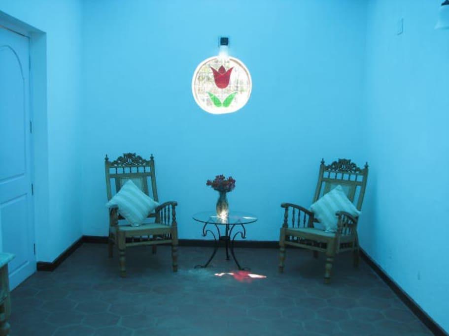 The blue corridor