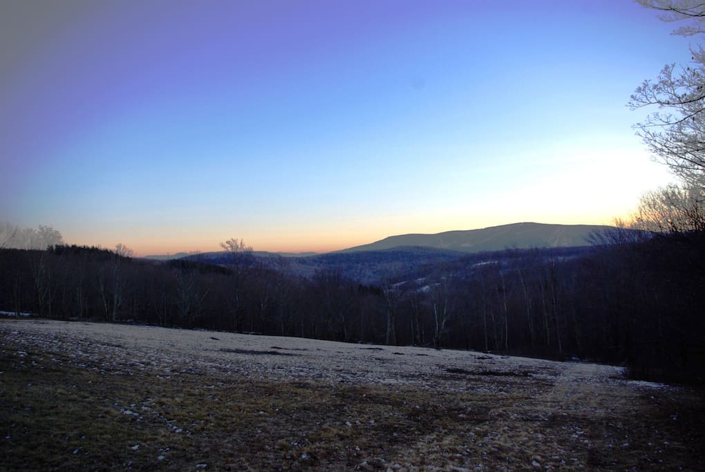 Winter views from the second meadow