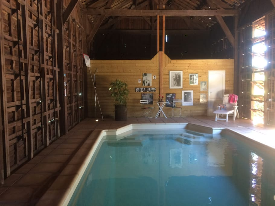 Old and new, our heated saltwater pool is inside a retired tobacco barn open may - Oct
