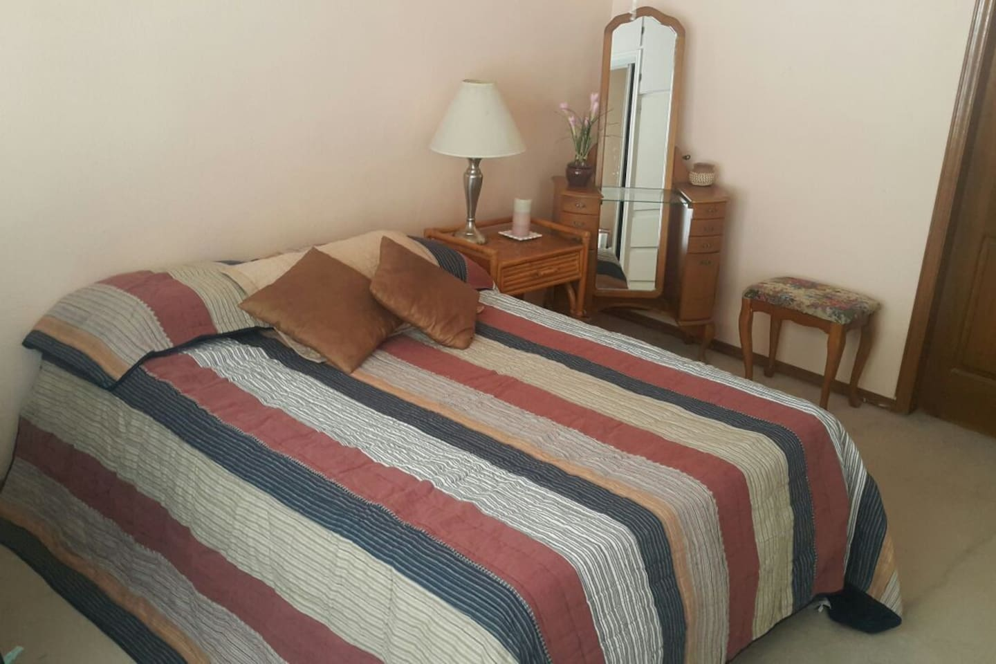 View of the bedroom.