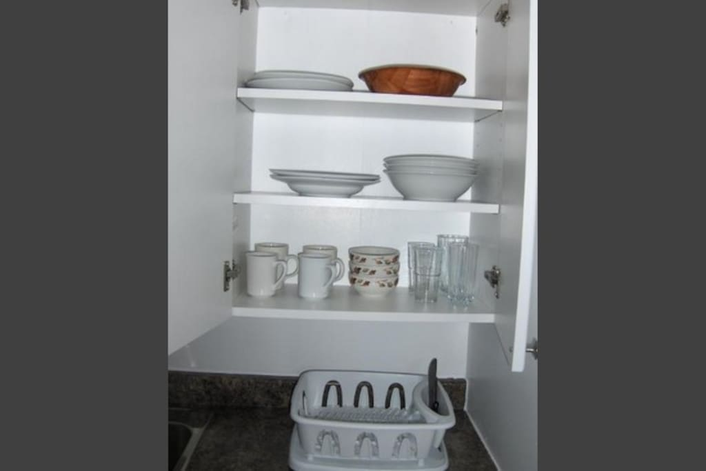 Kitchen wares provided. Clean after use. Detergent provided.