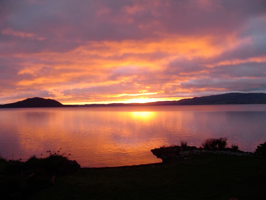 Enjoy the spectacular sunrises from the comfort of the deck