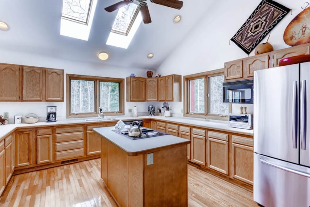 The fully-equipped kitchen is extremely spacious