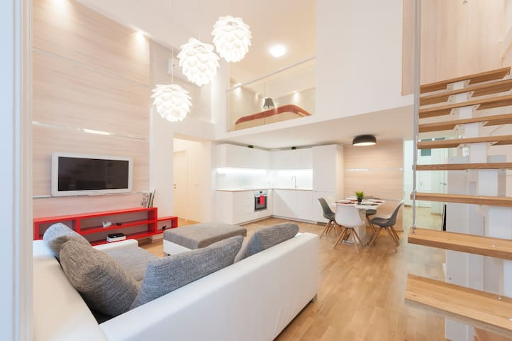 Bright and spacious modern home in the city center