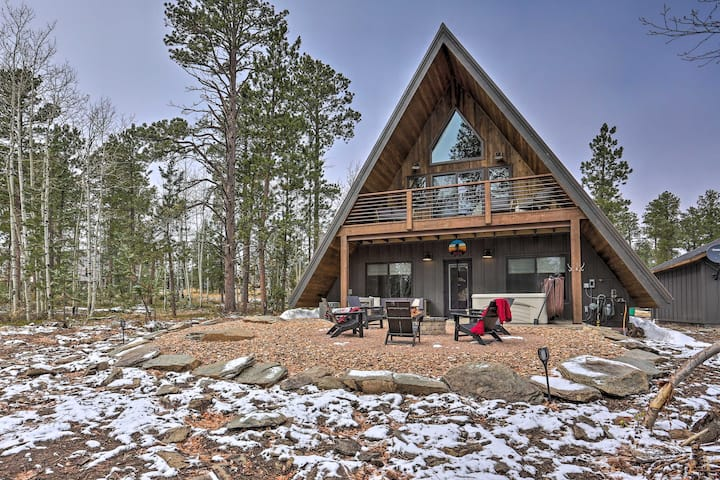 NEW! Modern A-Frame w/ Hot Tub: Hike, Bike, & ATV!