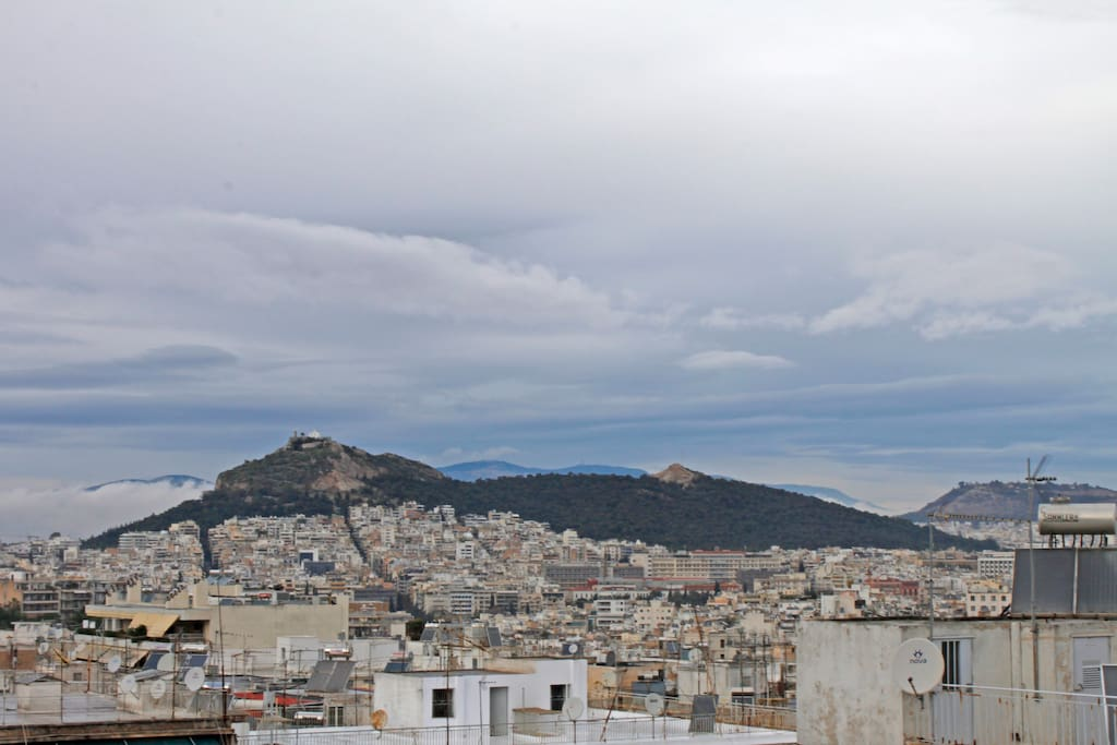 6th Floor Terrace / View of Lycabettus Hill (Private Space)