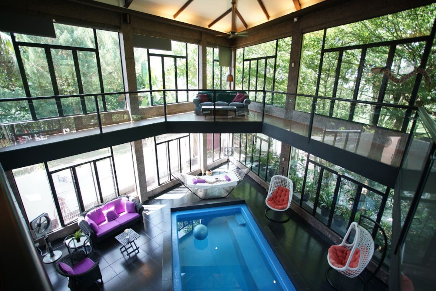 Private pool villa with forest view