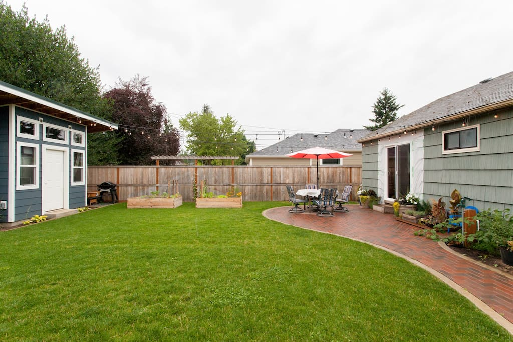 Backyard: Patio, Garden and Shed