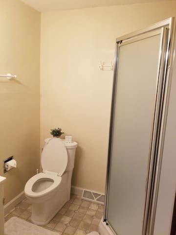 I upgraded the toilet so it's it's higher. I also feel like it's cleaner looking.