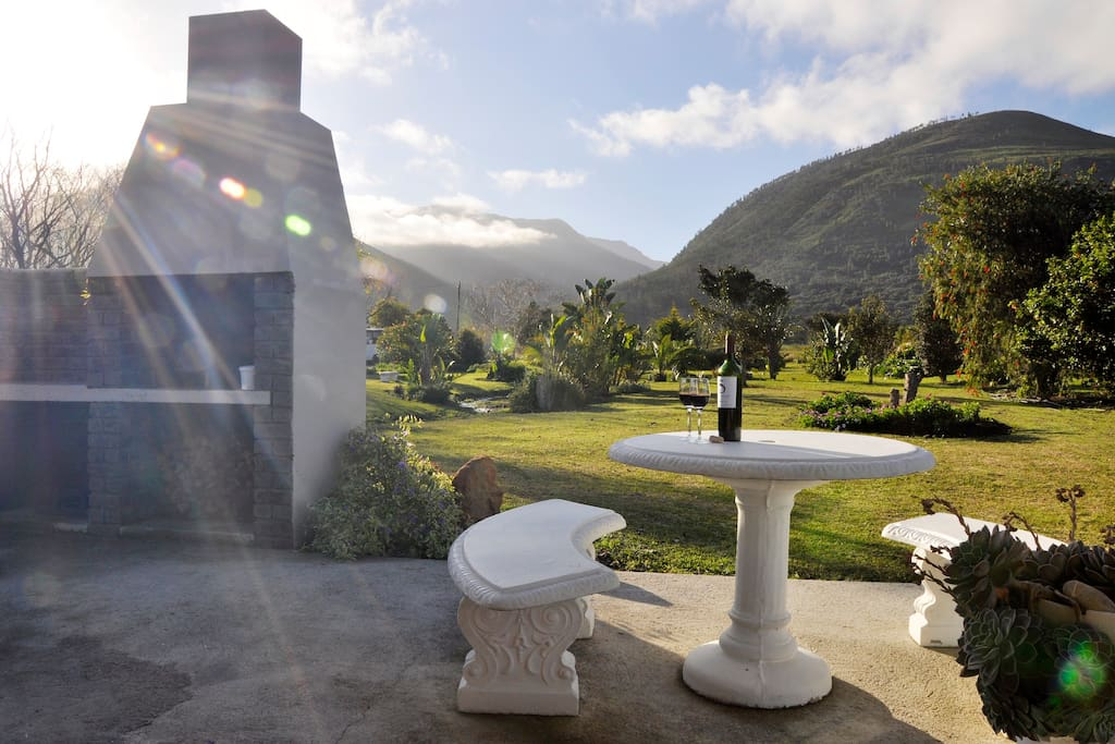 Cottage #1 - Sleeps 2 - Private patio with barbeque facilities and stunning mountain, garden & farm views