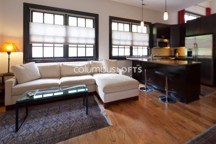 Luxury Cottage Loft w/Garage in Downtown Columbus