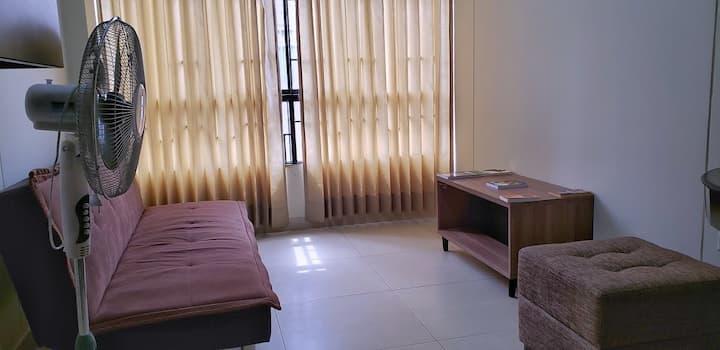 Nuevo Dep. amoblado, 1 hab. c/baño, 2do piso