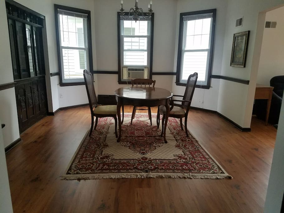 Dining room with a lot of elbow room.