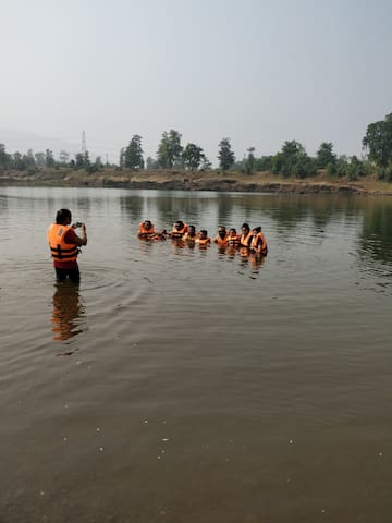 Swimming Along with Boating in Vaitarna River Except Monsoon.