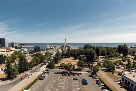 Apartament Gdynia centrum widok na morze 10 piętro