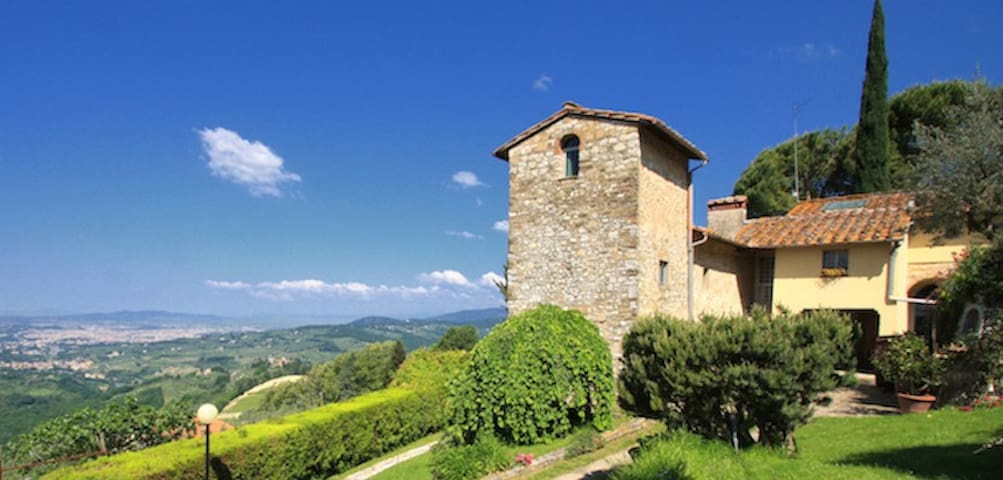 Villa with pool & Florence view - Le Case San Romolo