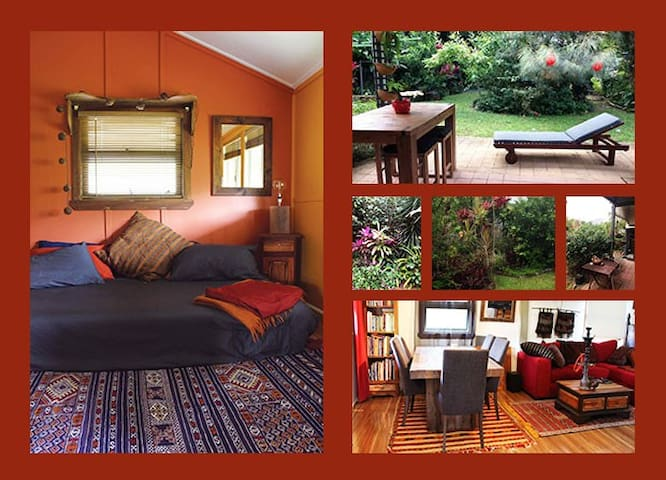 Colourful room in cottage, 22kms sth of Cairns - Gordonvale - Casa