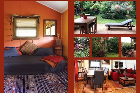 Colourful room in cottage, 22kms sth of Cairns - Gordonvale - Hus
