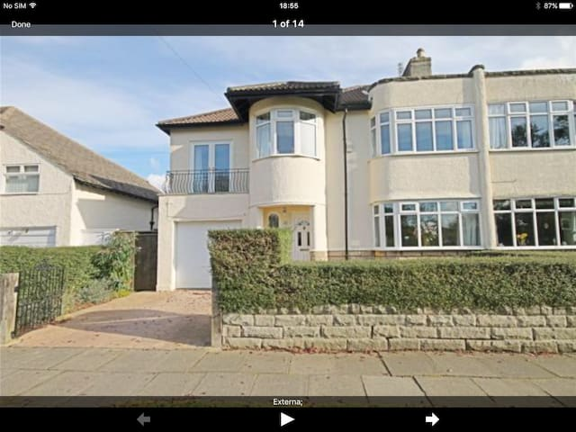 Art Deco Semi facing rural meadow - Darlington - Huis