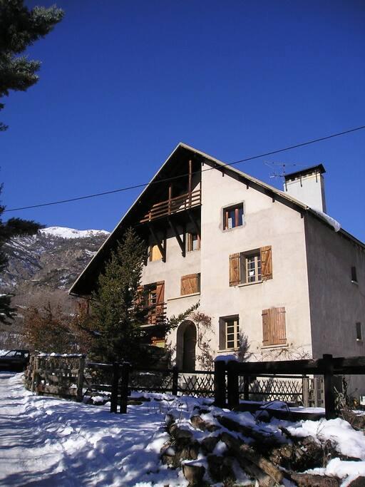 La maison en hiver...