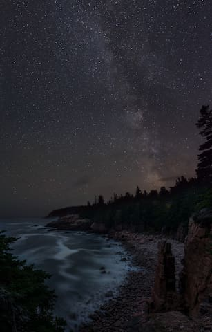 Night sky at Acadia National Park