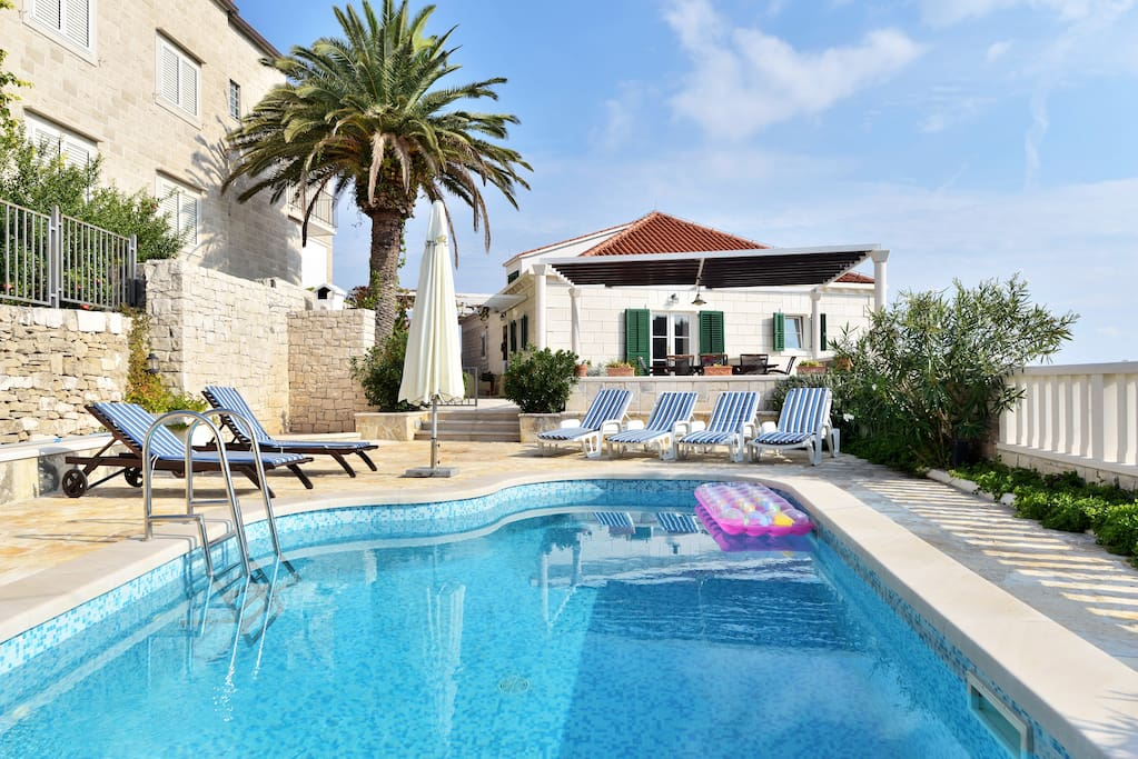 Villa MIR VAMI, Sumartin, Brac Island, private pool area