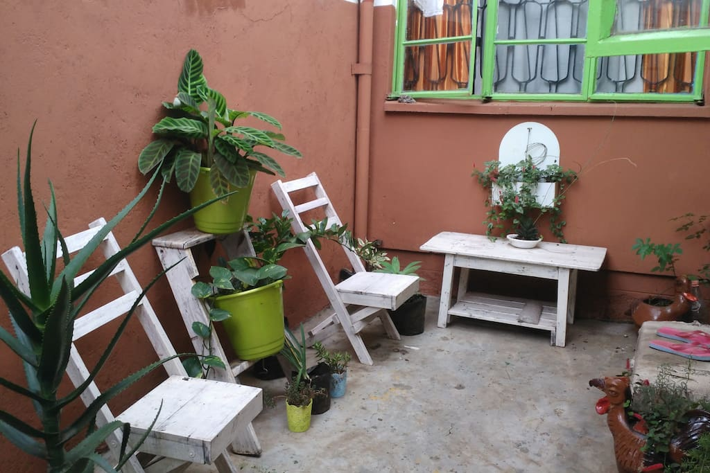 Enclosed garden for relaxation