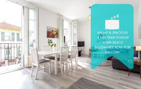 Bright&spacious 2BR, Scandinavian design, balcony