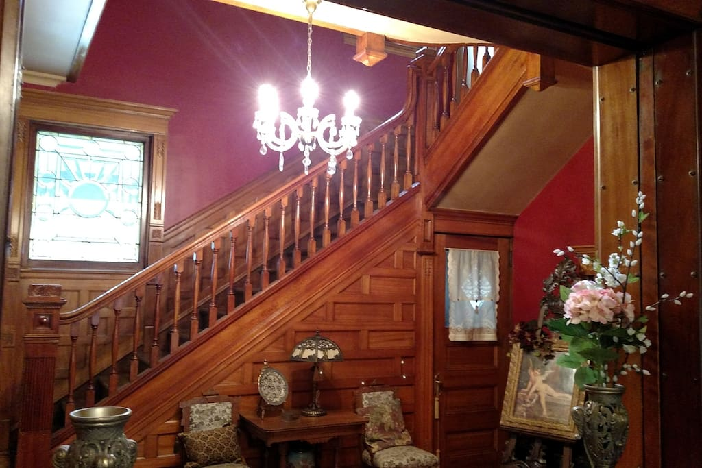 Winding Front Staircase