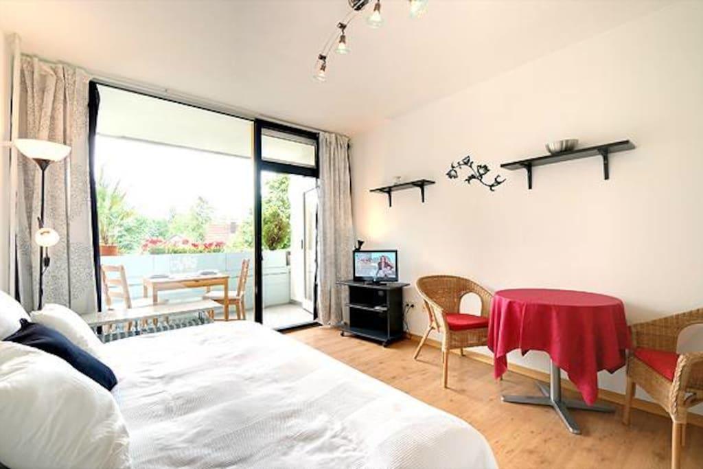 """Bright apartment at """"Südpark"""""""