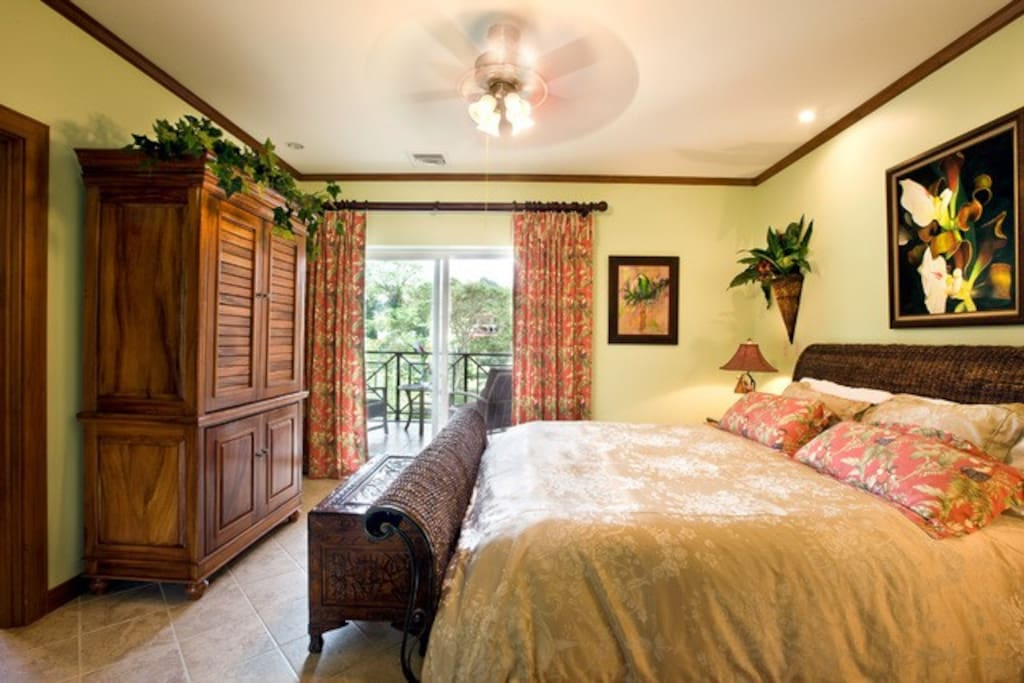 1 of 2 Master Bdrm's King Bed