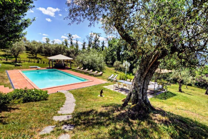 House on Lucca Hills, pool, village