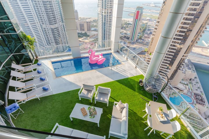 4 BDR Marina Penthouse I Private Pool & Terrace