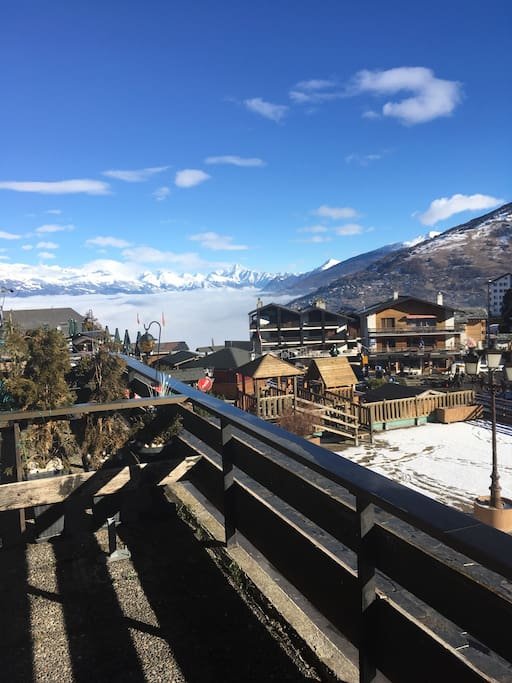 Unsere Aussicht vom Balkon