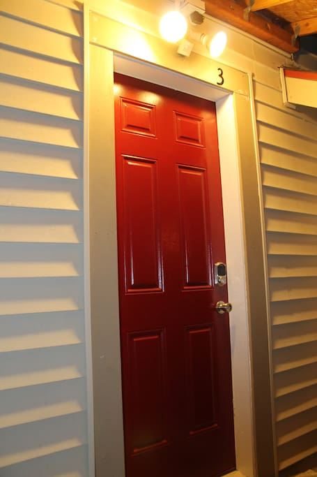 Keyless entry into your private apartment.