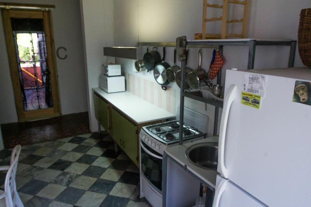 Kitchen for your use. Please clean up after you use. Be respectful to other guests.