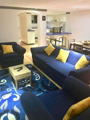 2 BEDROOM FULLY FURNISHED FLAT -   (CLOSE TO ISS)