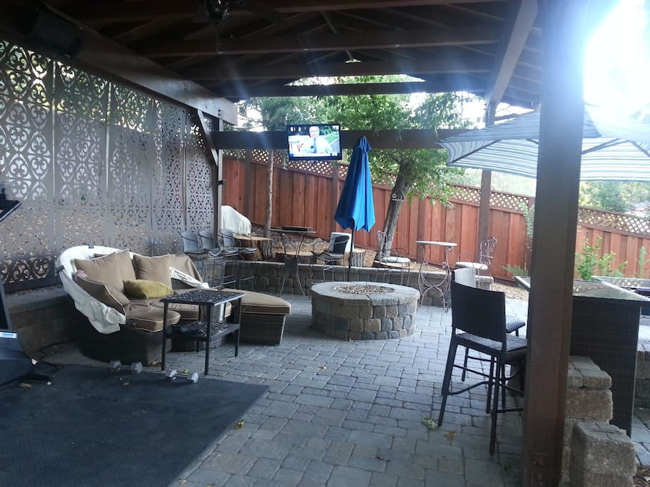 Upper Patio with Fire pit