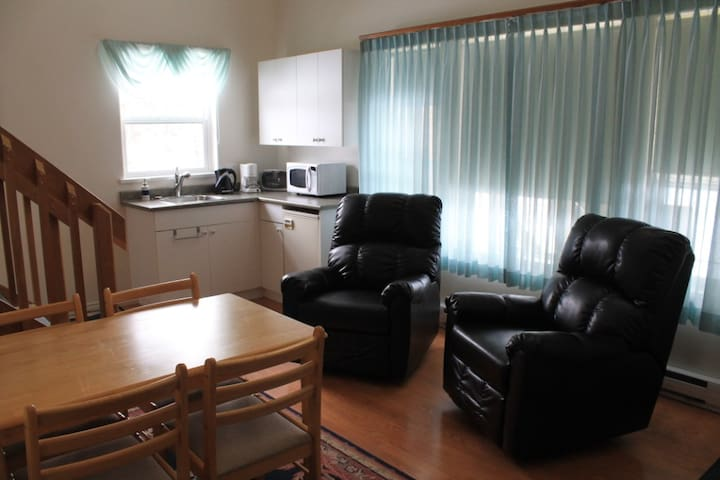 Living area with two comfy recliners
