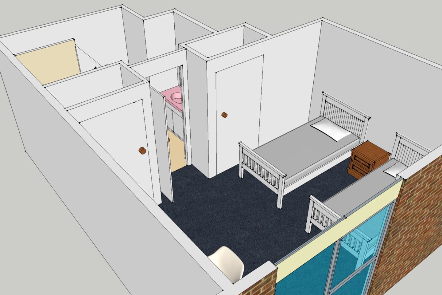Double Room in Two Single Bed Configuration (Picture Indicative Only)