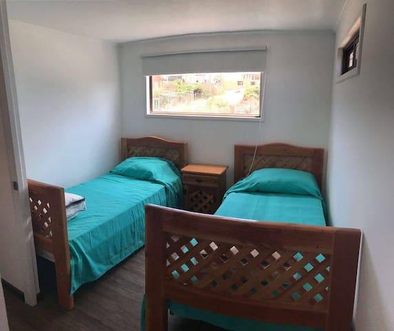 Habitacion con 2 camas