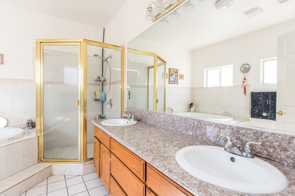 Private room with double sink
