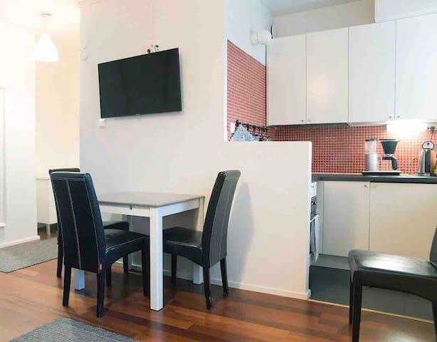 Idyllic single flat, centric location in Alppila